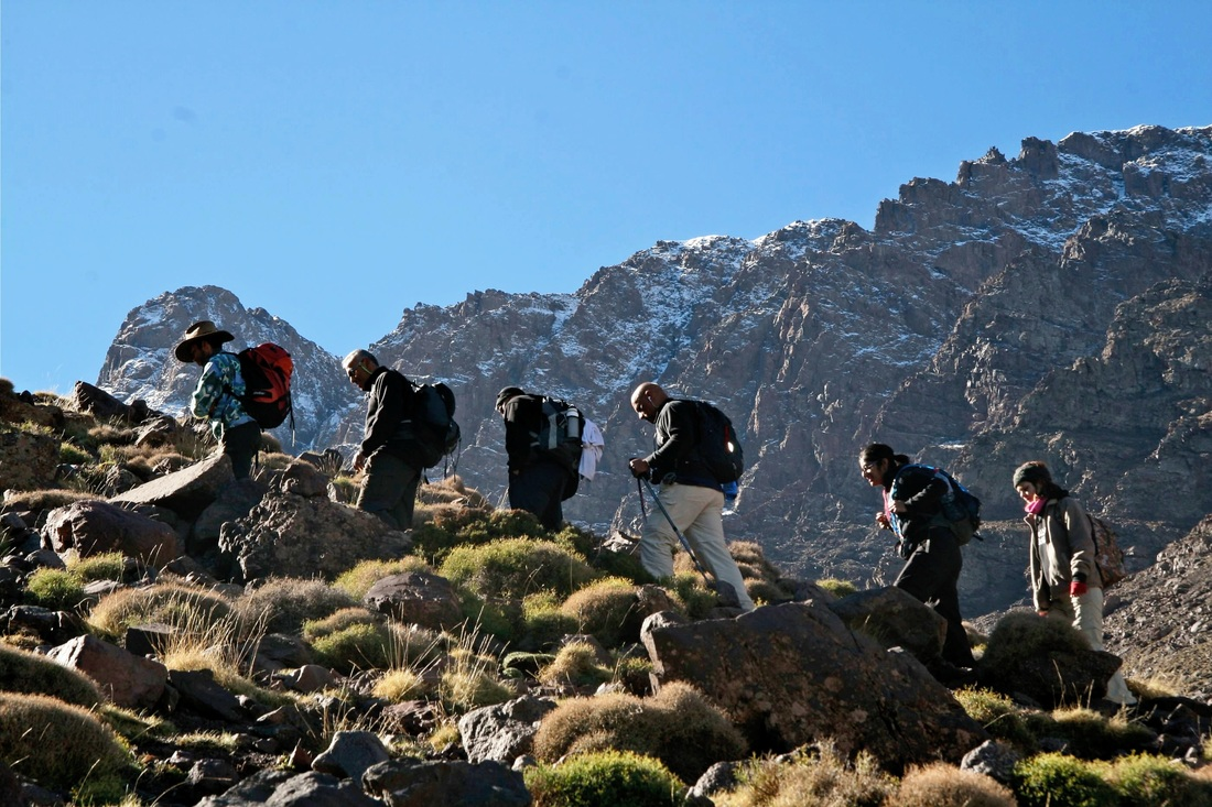 Desert Trek & Atlas Mountains Via Toubkal Ascent 8 days 7 nights combined From Marrakech