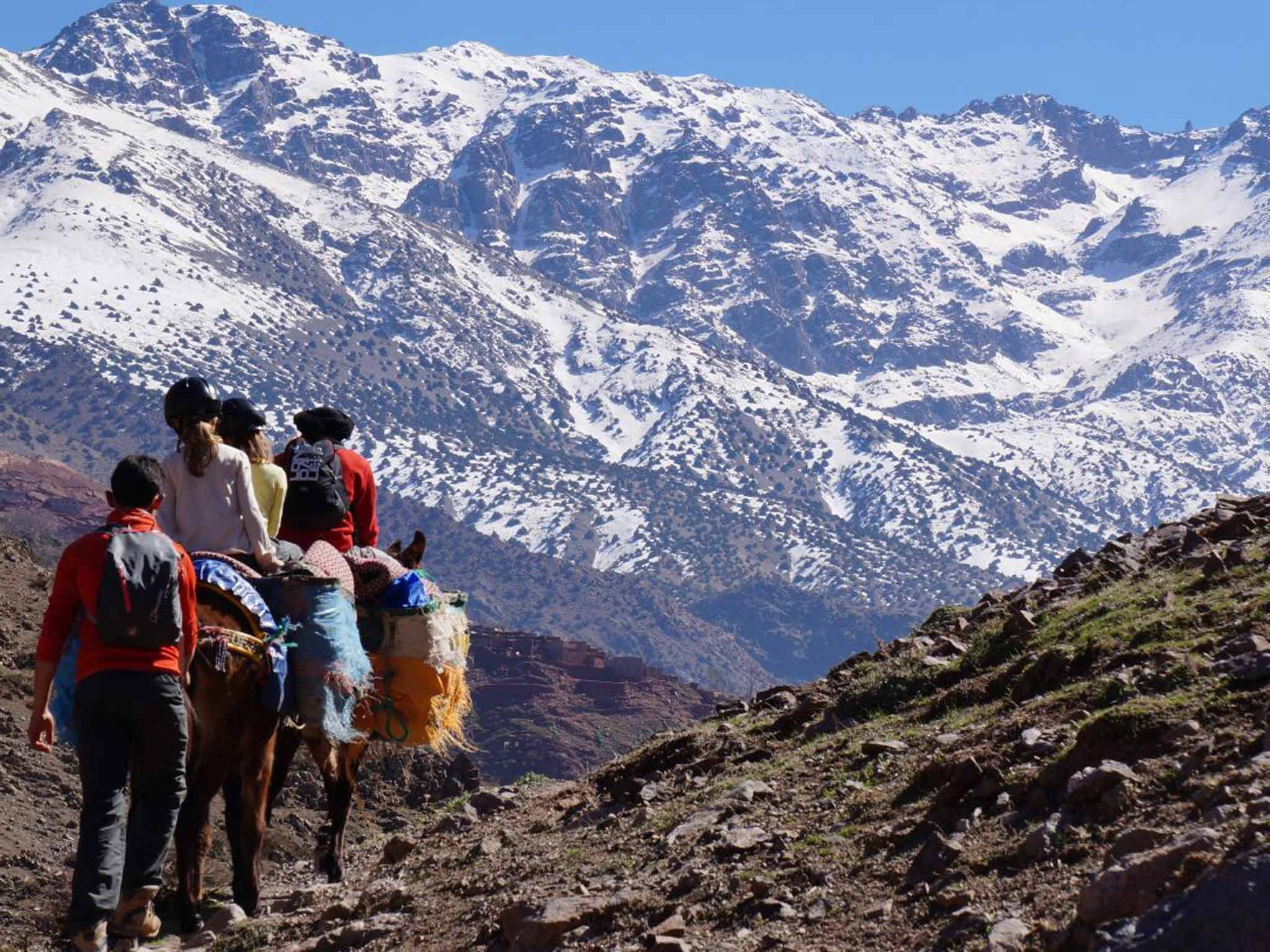 The Atlas Mountains Trek and Imlil valley via Desert 3 days 2 nights combined From Marrakech